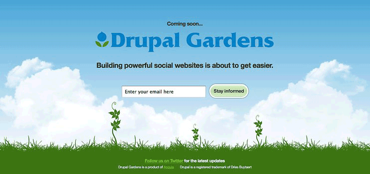 site Drupal Gardens