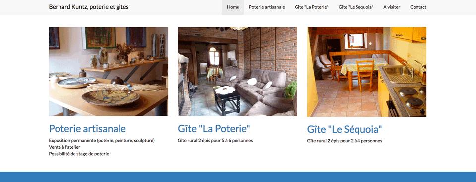 page d'accueil du site kuntz.be