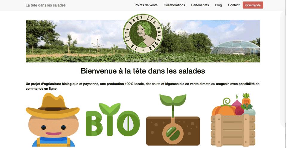 Site La tête dans les salades 2021