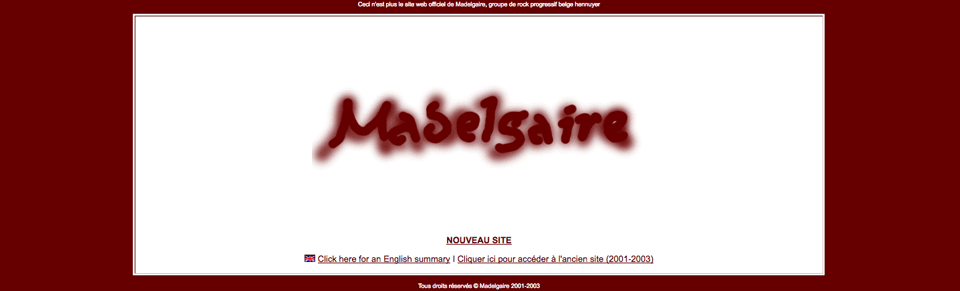 Site Madelgaire 2001-2003