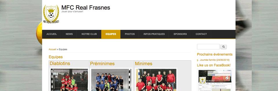 site MFC Real Frasnes